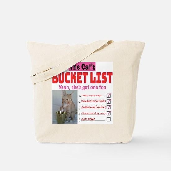 Cat's Bucket List Tote Bag