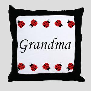 Grandma (ladybug) Throw Pillow