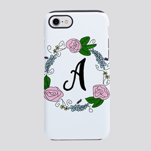 Hand Drawn Flower Wreath Mon iPhone 8/7 Tough Case