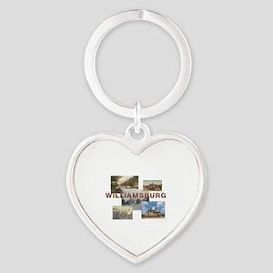 ABH Williamsburg Heart Keychain
