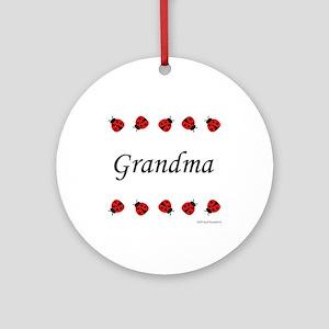 Grandma (ladybug) Keepsake (Round)