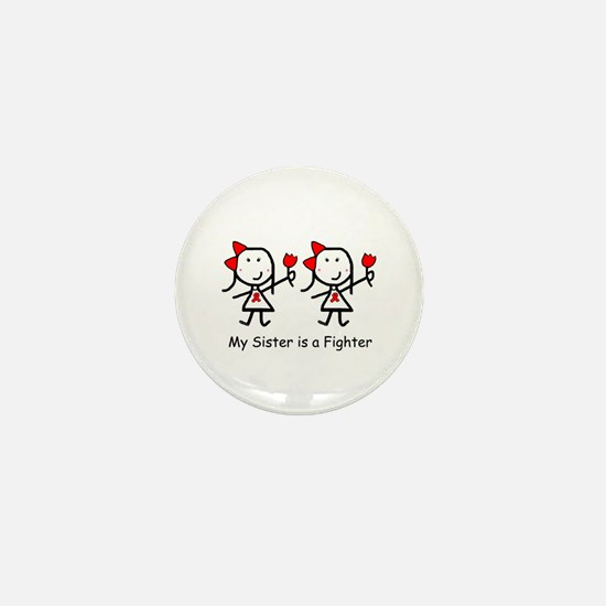 Red Ribbon - Sisters Mini Button