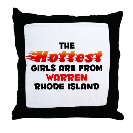 Hot Girls: Warren, RI Throw Pillow