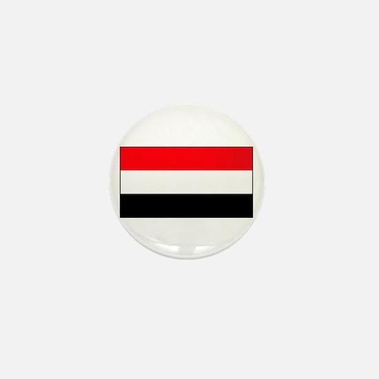 Yemen Yemeni Blank Flag Mini Button