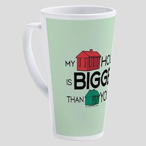 Monopoly - My House Is Bigger 17 oz Latte Mug