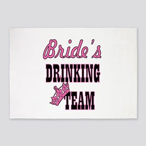 bride drinking team bachelorette pa 5'x7'Area Rug
