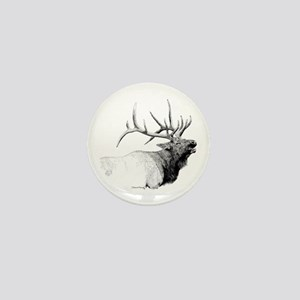 Bull Elk Mini Button