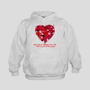 Grandma and Grandpa Love Me Heart Sweatshirt