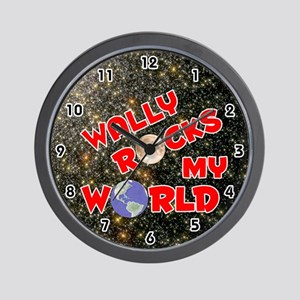 Wally Rocks My World (Red) Wall Clock