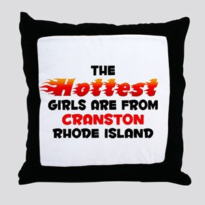 Hot Girls: Cranston, RI Throw Pillow