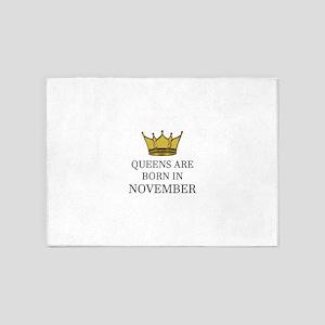 Queens Are Born In November 5'x7'Area Rug