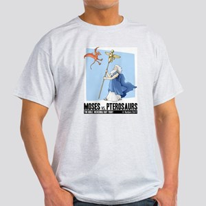 Moses vs. Pterosaurs Ash Grey T-Shirt