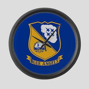 U.S. Navy Blue Angels Crest Large Wall Clock