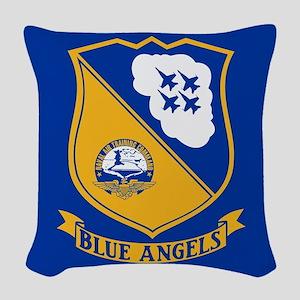U.S. Navy Blue Angels Crest Woven Throw Pillow