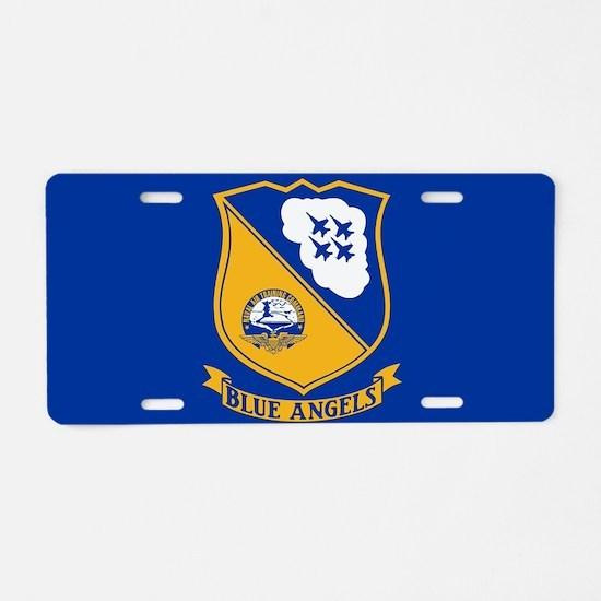 U.S. Navy Blue Angels Crest Aluminum License Plate