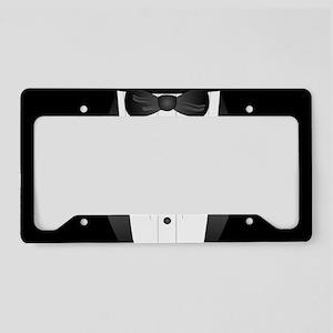 modern bowtie black tuxedo License Plate Holder