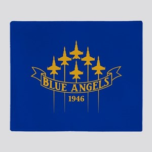 Blue Angels Fighter Planes Throw Blanket