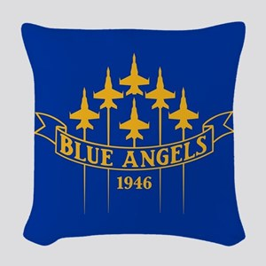 Blue Angels Fighter Planes Woven Throw Pillow