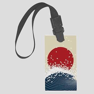 VINTAGE JAPANESE RISING SUN PRIN Large Luggage Tag