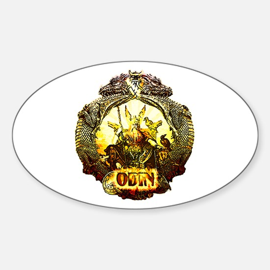 Odin Norse God Oval Decal