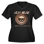 GEAR HEAD Women's Plus Size V-Neck Dark T-Shirt