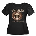 GEAR HEAD Women's Plus Size Scoop Neck Dark T-Shir