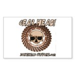 GEAR HEAD Rectangle Sticker