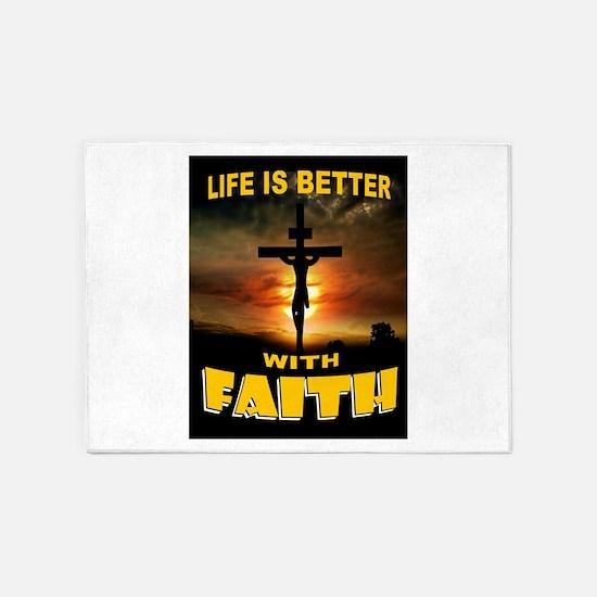 FAITH 5'x7'Area Rug