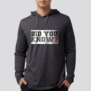 DID YOU KNOW - I DIDNT Long Sleeve T-Shirt
