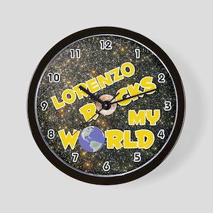 Lorenzo Rocks My World (Gold) Wall Clock