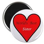 """World's Best Sister 2.25"""" Magnet (10 pack)"""