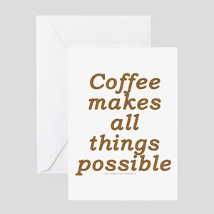 Funny Coffee Joke Greeting Card