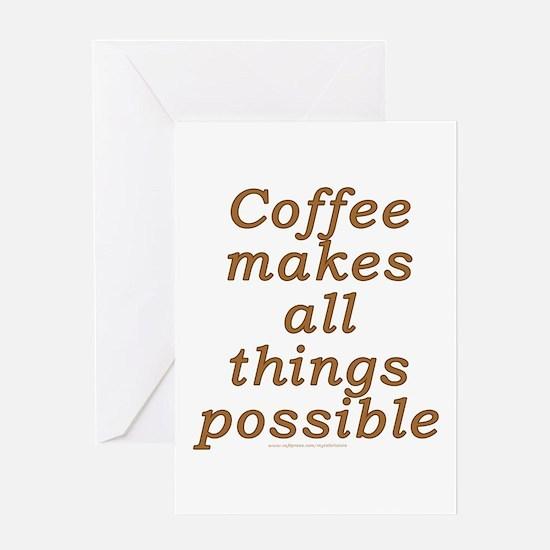 Funny Coffee Joke Greeting Card