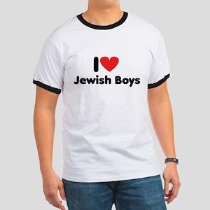 i heart jewish boys Ringer T
