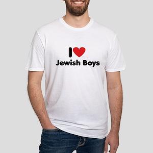 i heart jewish boys Fitted T-Shirt