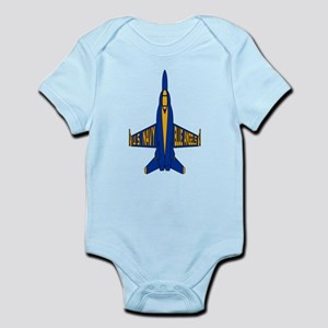 U.S. Navy Blue Angels Jet Baby Light Bodysuit
