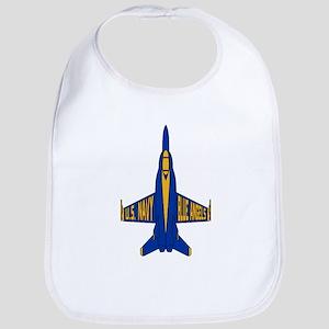 U.S. Navy Blue Angels Jet Cotton Baby Bib