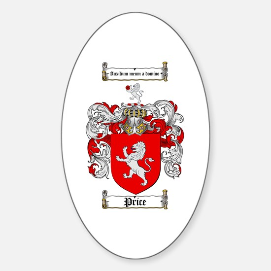 Price Coat of Arms Oval Decal