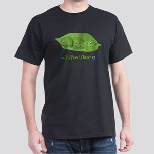Give Peas A Chance Dark T-Shirt