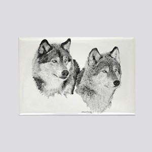 Lone Wolves Rectangle Magnet