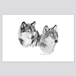 Lone Wolves Large Poster