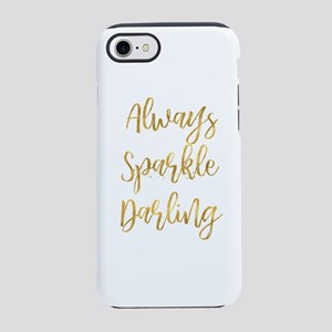 Gold Sparkle Darling iPhone 8/7 Tough Case