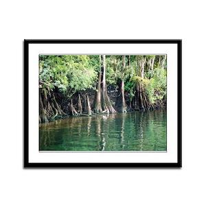 Egret on the Suwannee Framed Panel Print