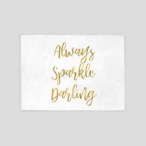 Gold Sparkle Darling 5'x7'area Rug