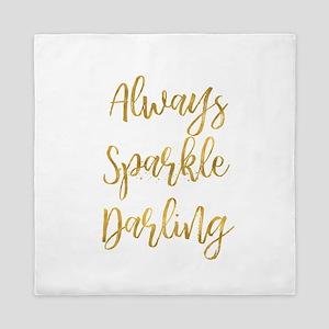 Gold Sparkle Darling Queen Duvet