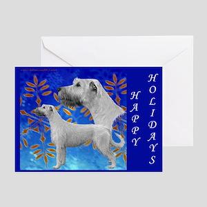 10 Irish Wolfhound Happy Holidays Greeting Cards