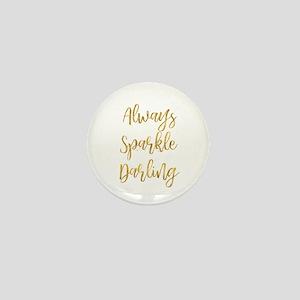 Gold Sparkle Darling Mini Button