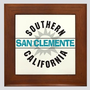 San Clemente California Framed Tile