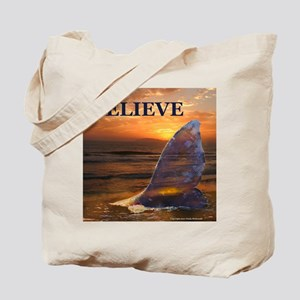 BELIEVE WHALE Tote Bag