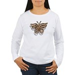 Gold Butterfly Women's Long Sleeve T-Shirt